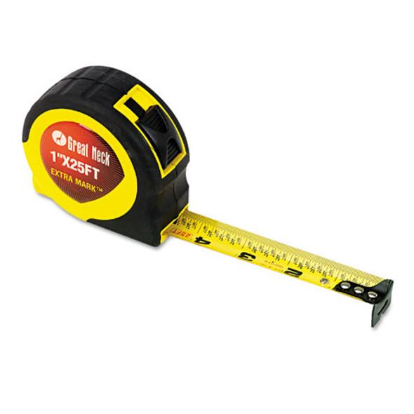 "Extramark Power Tape, 1"" X 25ft, Steel, Yellow/black"