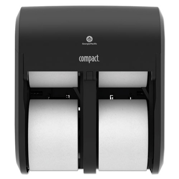 Compact Quad Vertical 4-roll Coreless Dispenser, 11.75 X 6.9 X 13.25, Black
