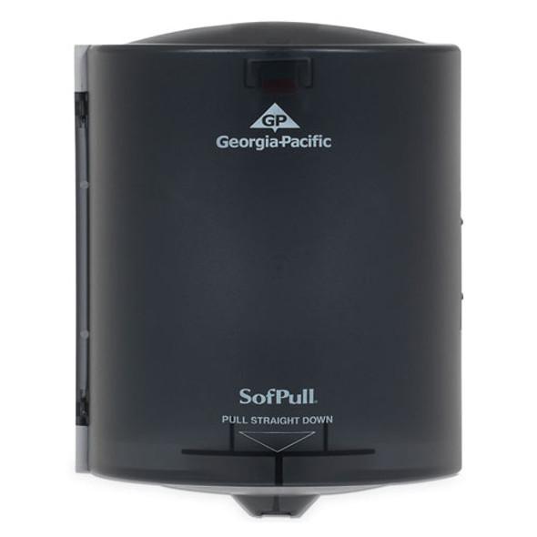 Center Pull Hand Towel Dispenser, 10 7/8w X 10 3/8d X 11 1/2h, Smoke