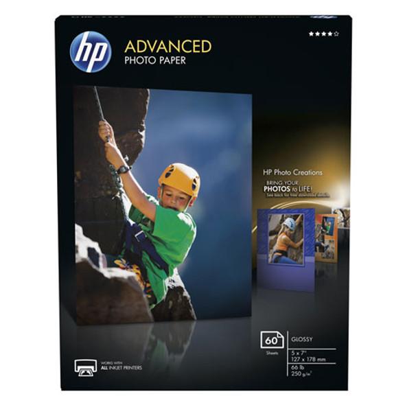 Advanced Photo Paper, 10.5 Mil, 5 X 7, Glossy White, 60/pack