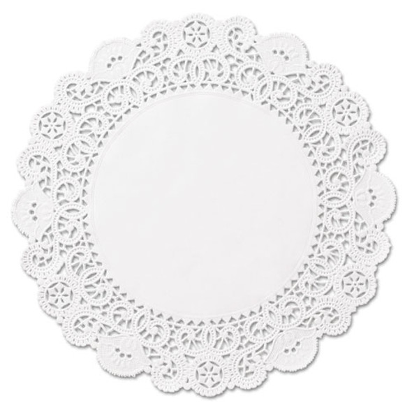 "Brooklace Lace Doilies, Round, 4"", White, 2000/carton"