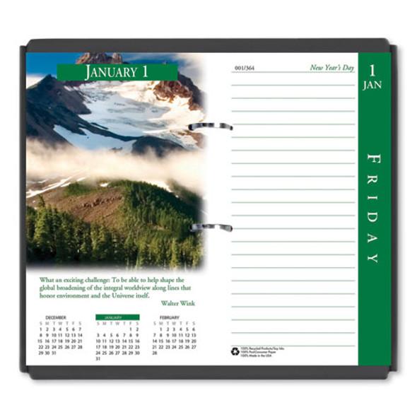 Earthscapes Desk Calendar Refill, 3.5 X 6, 2021
