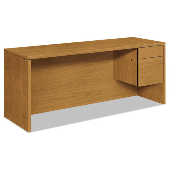 10500 Series 3/4-height Right Pedestal Credenza, 72w X 24d X 29.5h, Harvest