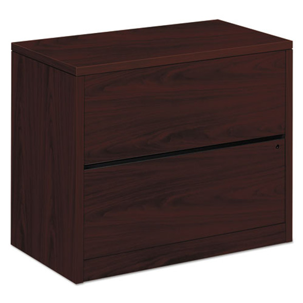 10500 Series Two-drawer Lateral File, 36w X 20d X 29.5h, Mahogany