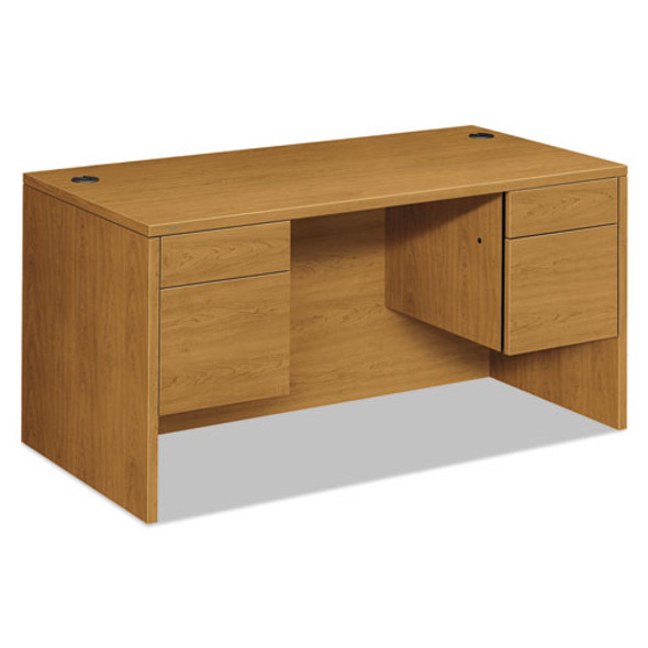 10500 Series 3/4 Height Double Pedestal Desk, 60w X 30d X 29.5h, Harvest