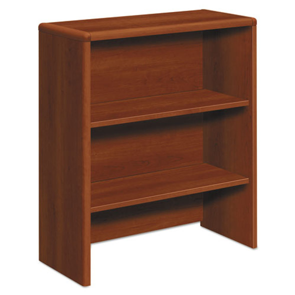 10700 Series Bookcase Hutch, 32.63w X 14.63d X 37.13h, Cognac