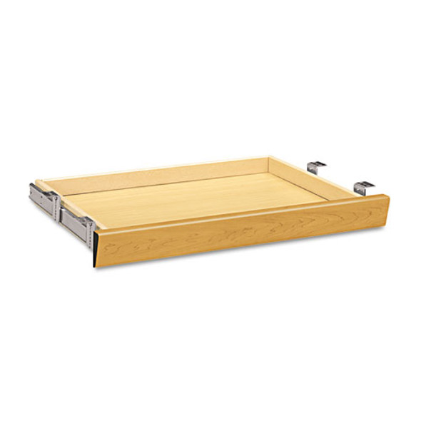 Laminate Angled Center Drawer, 26w X 15.38d X 2.5h, Harvest
