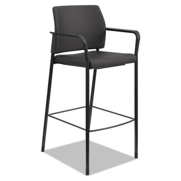 Accommodate Series Cafe Stool, Supports Up To 300 Lbs., Black Seat/black Back, Black Base