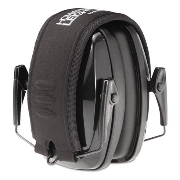 Leightning L3 Noise-blocking Folding Earmuffs, 23nrr, Black/gray