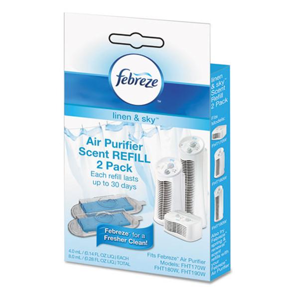 """Air Purifier Refill, Linen Scent, 3 1/4 X 3/4"""" X 5 1/2"""", 2/each"""