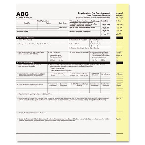 Digital Carbonless Paper, 2-part, 8.5 X 11, White/canary, 2, 500/carton