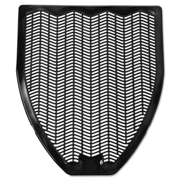 Disposable Urinal Floor Mat, Nonslip, Fresh Blast Scent, 17 1/2 X 20 3/8, Black, 6/carton