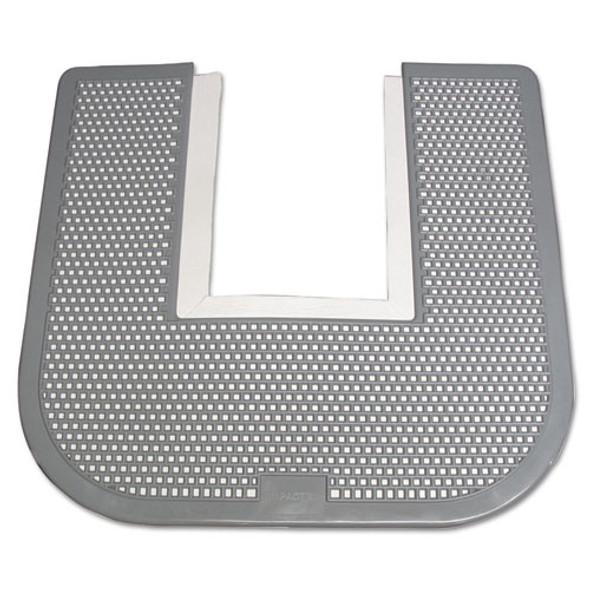 Disposable Toilet Floor Mat, Nonslip, Orchard Zing Scent, 23 X 21-5/8, Gray, 6/carton