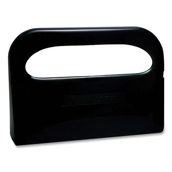 Plastic 1/2 Fold Toilet Seat Cover Dispenser, 16.05 X 3.15 X 11.3, Smoke