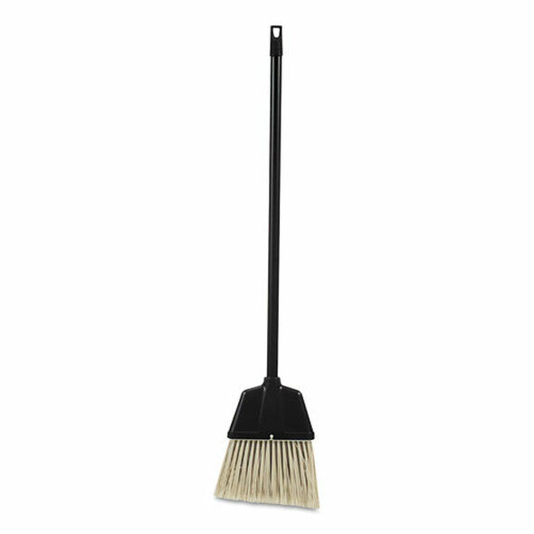 "Lobby Dust Pan Broom, Plastic, Natural/black, 38"", 12/carton"