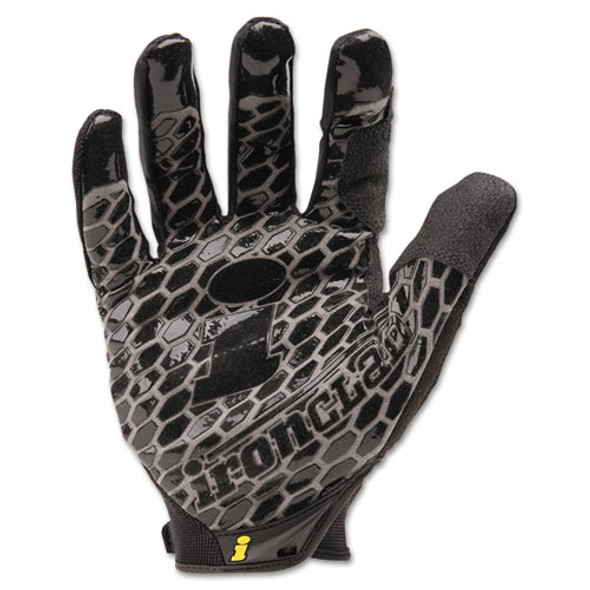 Box Handler Gloves, Black, Large, Pair