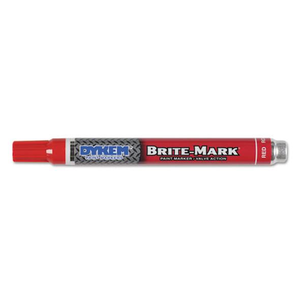 Brite-mark Paint Markers, Medium Bullet Tip, Red