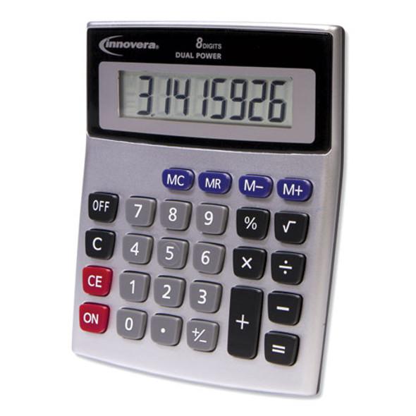 15927 Desktop Calculator, Dual Power, 8-digit Lcd Display