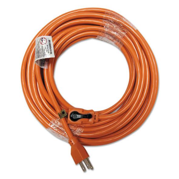 Indoor Extension Cord, Locking Plug, 50ft, Orange