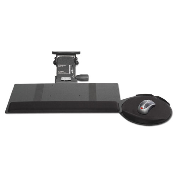 Leverless Lift N Lock Keyboard Tray, 19w X 10d, Black