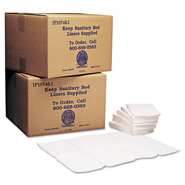 Baby Changing Station Sanitary Bed Liners, 13 X 19, White, 500/carton