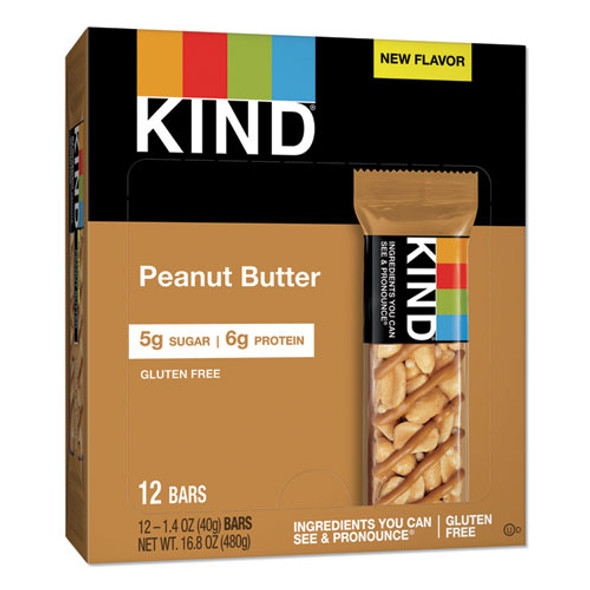 Nuts And Spices Bar, Peanut Butter, 1.4 Oz, 12/pack
