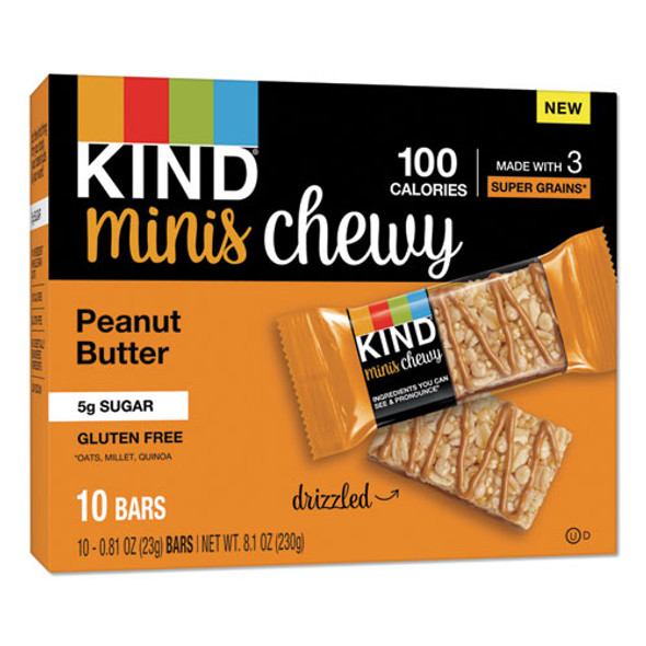 Minis Chewy, Peanut Butter, 0.81 Oz 10/pack