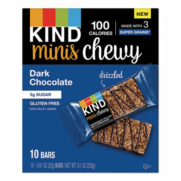 Minis Chewy, Dark Chocolate, 0.81 Oz,10/pack