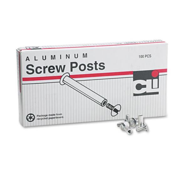 """Post Binder Aluminum Screw Posts, 3/16"""" Diameter, 1/2"""" Long, 100/box"""