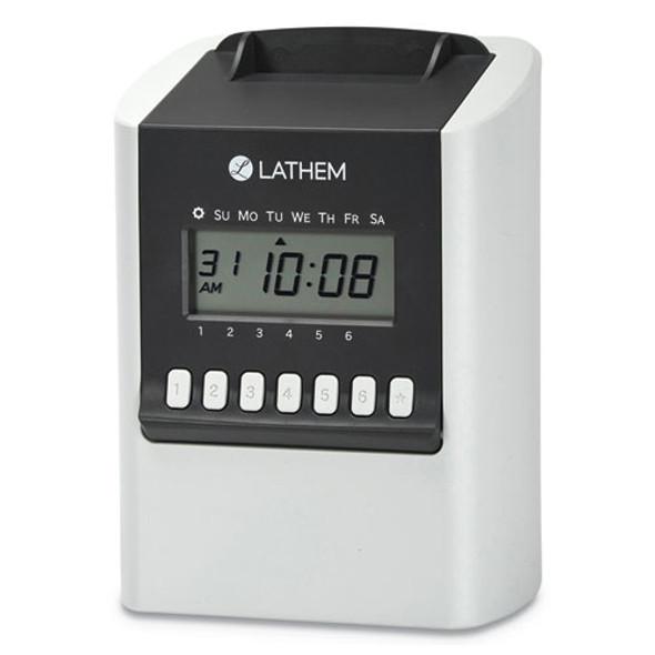 700e Calculating Time Clock, White