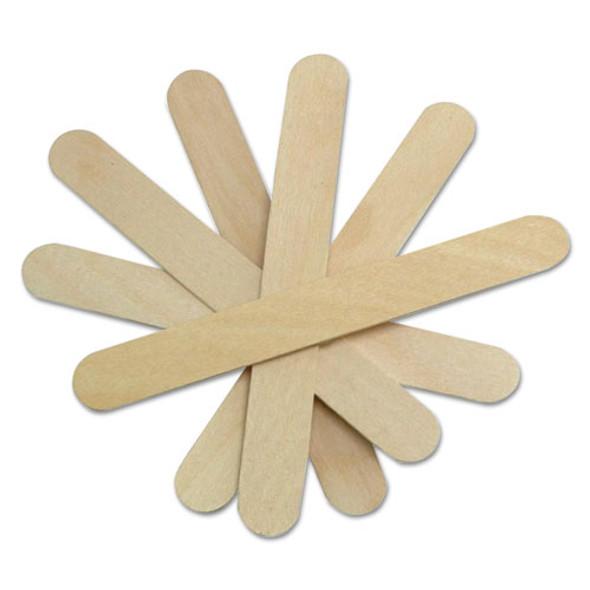 """Non-sterile Tongue Depressors, Wood, 6"""", 500/box"""