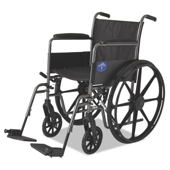 Excel K1 Basic Wheelchair, 18w X 16d, 300 Lb Capacity