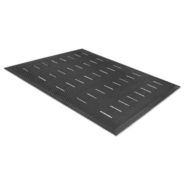 Free Flow Comfort Utility Floor Mat, 36 X 48, Black