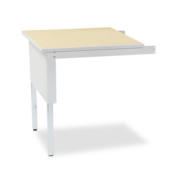 Mailflow-to-go Mailroom System Table, 30w X 30d X 29-36h, Pebble Gray
