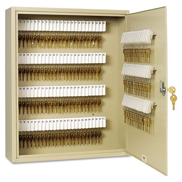 Uni-tag Key Cabinet, 200-key, Steel, Sand, 16 1/2 X 4 7/8 X 20 1/8