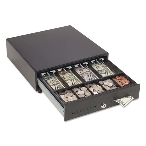 Touch Release Locking Cash Drawer W/spring-loaded Bill Weights, Black