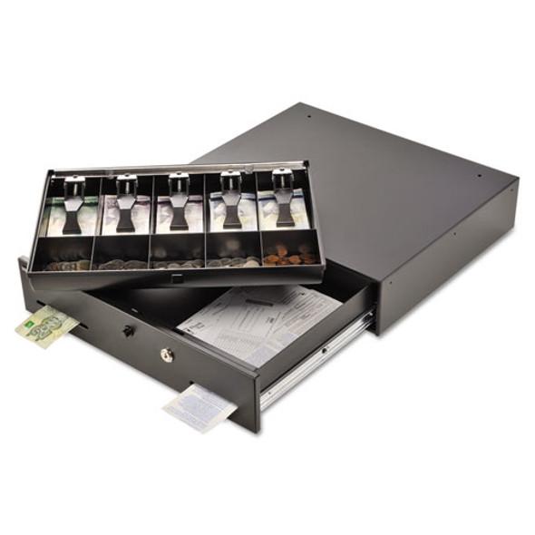 Alarm Alert Steel Cash Drawer W/key & Push-button Release Lock, Black