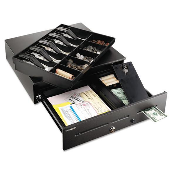 High-security Cash Drawer, 18 X 16 3/4 X 4 3/4, Black