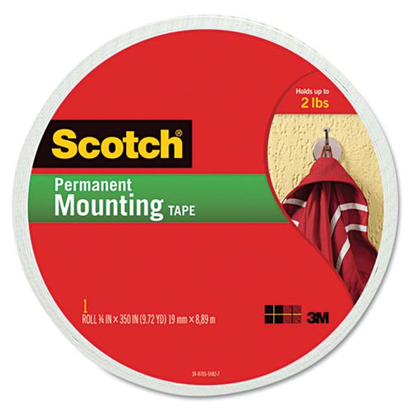 """Foam Mounting Double-sided Tape, 3/4"""" Wide X 350"""" Long"""