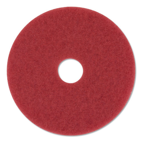 "Buffer Floor Pads 5100, 20"" Diameter, Red, 10/carton"