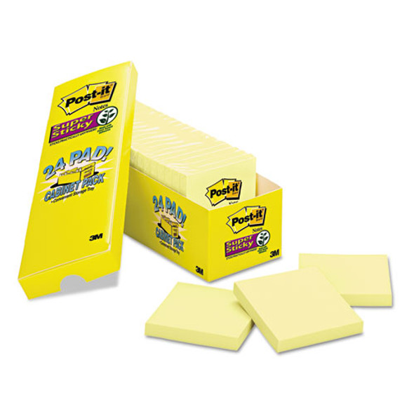 Canary Yellow Note Pads, 3 X 3, 90-sheet, 24/pack