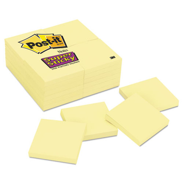 Canary Yellow Note Pads, 3 X 3, 90-sheet, 24/pack - IVSMMM65424SSCY