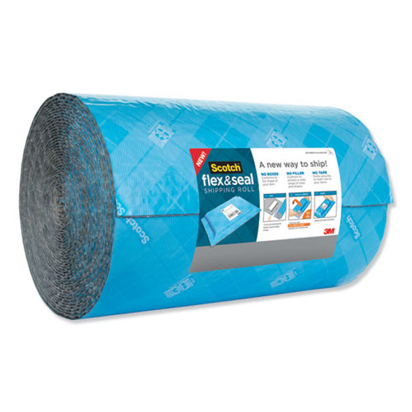 """Flex And Seal Shipping Roll, 15"""" X 200 Ft, Blue/gray"""