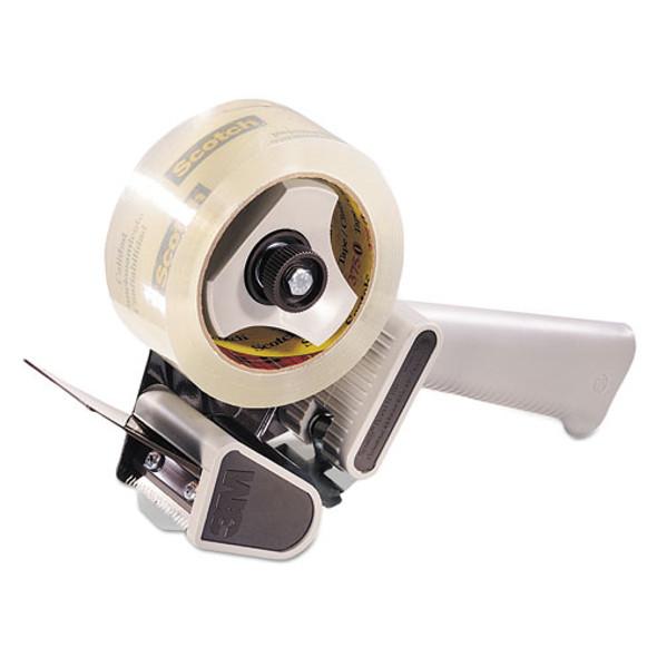 "H180 Box Sealing Pistol Grip Tape Dispenser, 3"" Core, Plastic/metal, Gray"