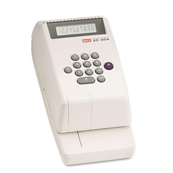 Electronic Checkwriter, 10-digit, 4-3/8 X 9-1/8 X 3-3/4