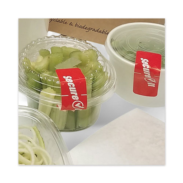 """Secureit Tamper Evident Food Container Seal, """"secure It"""", 1 X 3, Red, 250/roll, 2 Rolls/pack"""