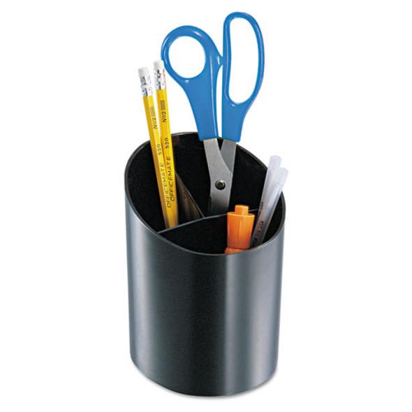Recycled Big Pencil Cup, 4 1/4 X 4 1/2 X 5 3/4, Black