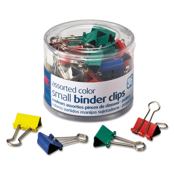 Assorted Colors Binder Clips, Small, 36/pack