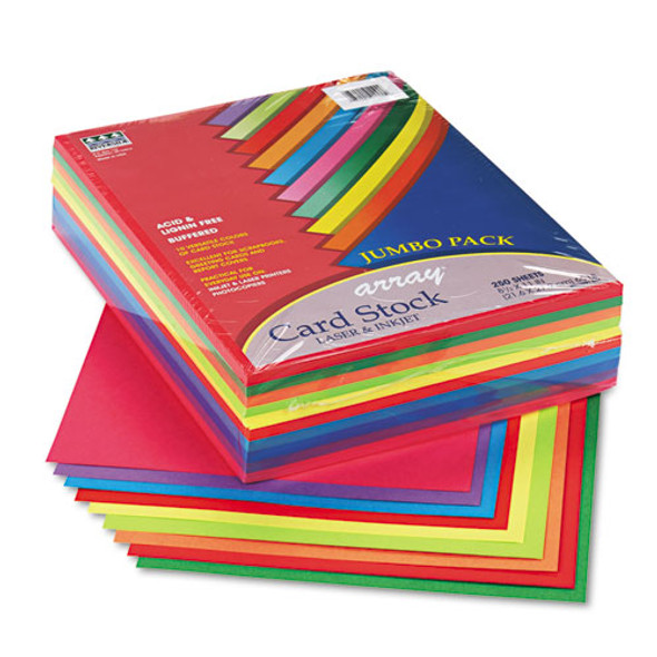 Array Card Stock, 65lb, 8.5 X 11, Assorted Lively Colors, 250/pack