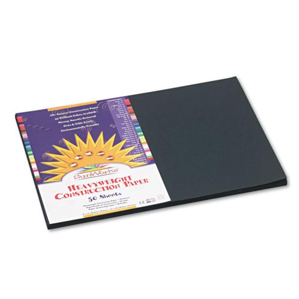 Construction Paper, 58lb, 12 X 18, Black, 50/pack